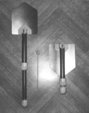 Складная саперная лопатка из немагнитных материалов