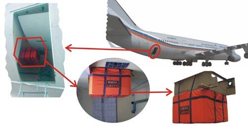 Локализатор для защиты от взрыва на борту воздушного судна Фонтан