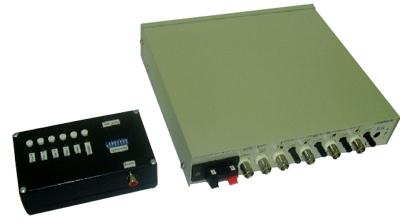 Комплект передачи видеосигнала по проводной линии коммутируемый четырехканальный  М24-4К