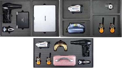 Комплект импровизированных взрывчатых устройств, замаскированных в электронных приборах AVSEC001