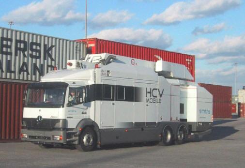 Мобильный рентгеновский сканер для досмотра груженых грузовых автомобилей и контейнеров Heimann HCVM 3021