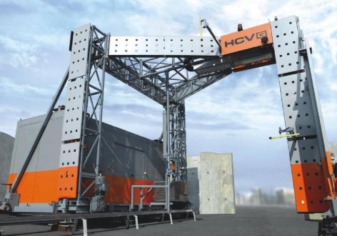 Высокоэнергетический рентгеновский сканер для досмотра груженых грузовых автомобилей и контейнеров HCVG 4031