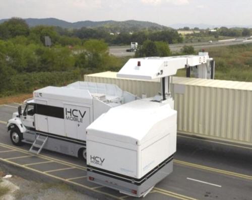Мобильный рентгеновский сканер для досмотра груженых грузовых автомобилей и контейнеров HCVM 4028