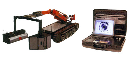 Портативная рентгенотелевизионная установка для мобильного робототехнического комплекса ПЗ-1074