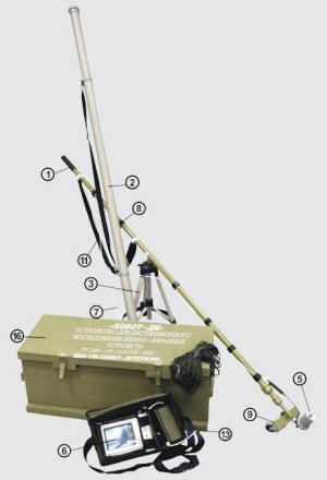 Устройство для дистанционного исследования минно-взрывных устройств Хобот-ДИ