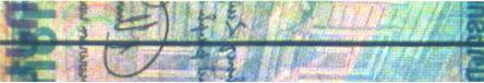 Рис. 13. Сплошная металлизированная защитная нить (1000 драм Армении).