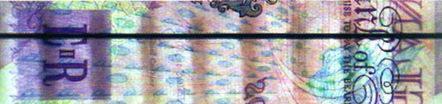 Рис. 16. Вид на просвет сплошной ныряющей нити (20 английских фунтов).