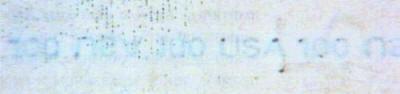 Рис. 22. На имитированной нити текст виден сквозь полупрозрачную краску.