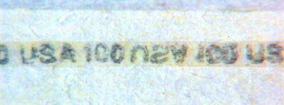 Рис. 24. Полимерная полоска с текстом, вклеенная между тонкими листами.