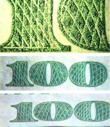 Рис. 40. Имитация OVI способом глубокой печати
