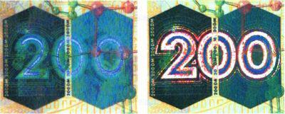 Рис. 41. Кинеграмма на банкноте номиналом 200 марок Германии