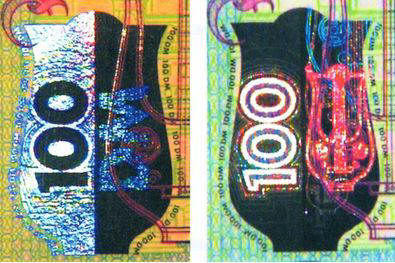 Рис. 42. Кинеграмма на банкноте номиналом 100 марок Германии