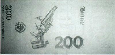 Рис. 51. А так выглядит картина поглощения в ИК-диапазоне на банкноте 200 марок Германии.