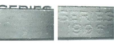 Рис. 53. Фрагменты «магнитного образа» банкнот номиналом 100 долларов США выпуска 1996 года