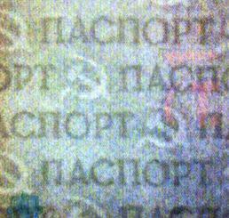 Рис. 6. Двутоновый водяной знак бумаги паспорта гражданина СССР.