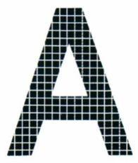Рис. 70. Схематическое изображение оттиска трафаретной печати.