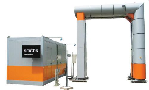 Компактный высокоэнергетичный портал для досмотра грузового автотранспорта, контейнеров и авиагруза HCVP