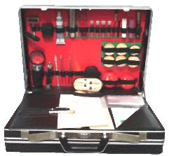 Криминалистический чемодан для дактилоскопирования и туалета трупа ВК-2