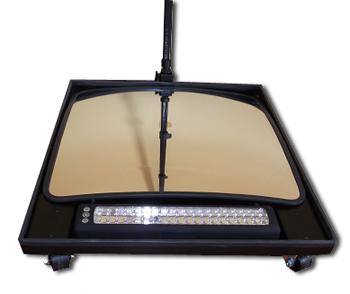 Подкатное досмотровое зеркало со съёмным осветителем UVM-XL