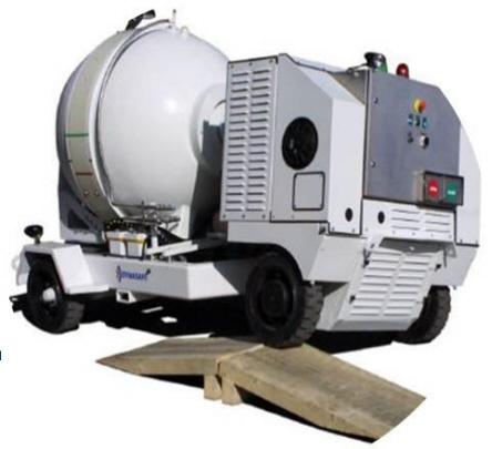 Взрывобезопасный контейнер DynaSafe DynaSEALR X10-DUR на самоходной платформе