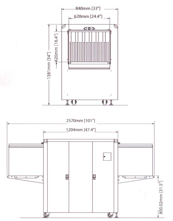 Интроскоп для проверки багажа Rapiscan 620XR