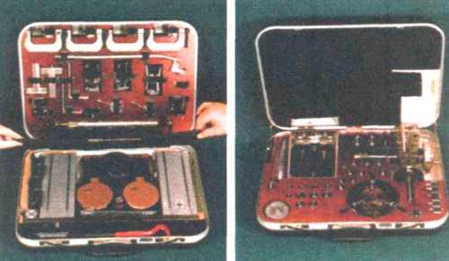 Набор механических приспособлений для ручного дистанционного расснаряжения взрывных устройств и вскрытия чемоданов Выпад-ПО