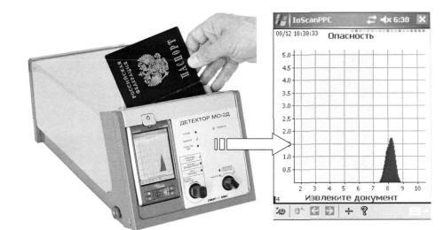 Детектор следов взрывчатых веществ на документах МО-2Д