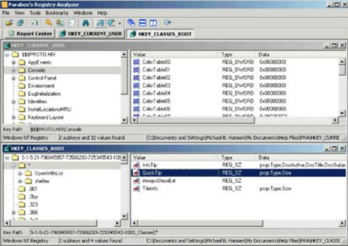Программа Paraben Registry Analyzer